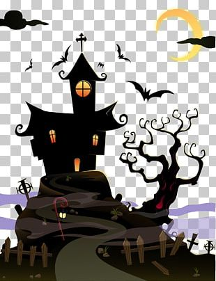 Halloween Ghost House PNG