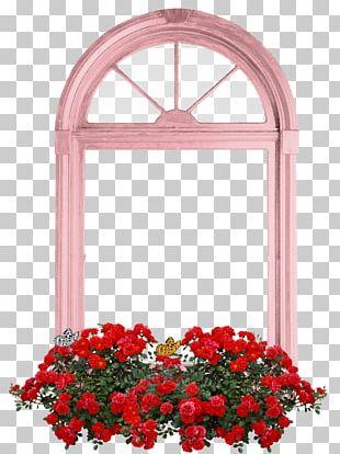 Floral Design Window Cut Flowers Garden Roses PNG
