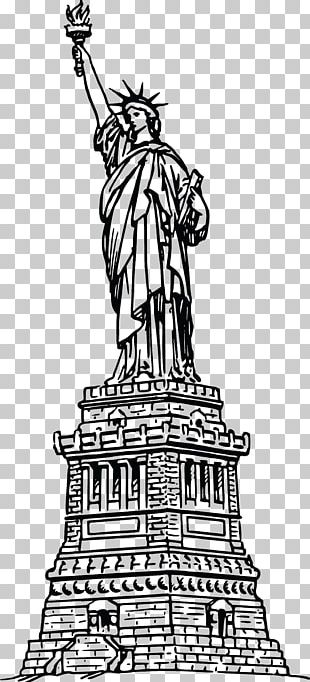 Statue Of Liberty Coloring Book Drawing PNG
