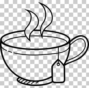 White Tea Coffee Cup PNG
