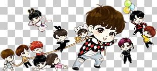 Drawing BTS Chibi Fan Art PNG