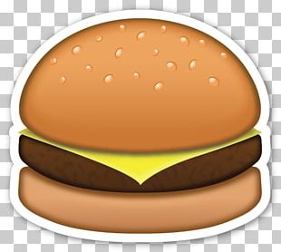 Hamburger Emoji Sticker Cheeseburger Smiley PNG