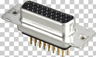 D-subminiature Electrical Connector Printed Circuit Board VGA Connector Electronic Component PNG