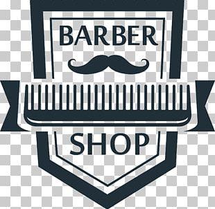 Comb Polka Barbershop Logo PNG