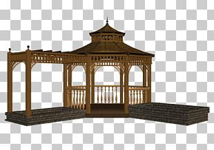 Gazebo Garden Design Fence PNG