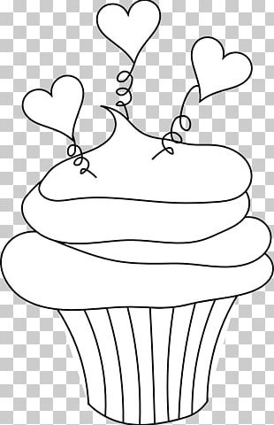 Cupcake Frosting & Icing Red Velvet Cake Muffin Coloring Book PNG