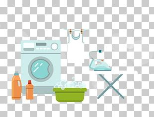 Flat Design Washing Machine Laundry Icon PNG