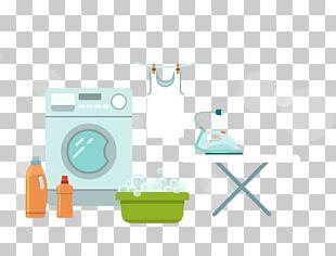 Flat Design Washing Machine Laundry Icon PNG