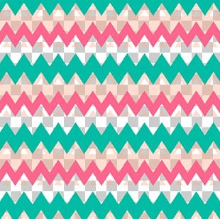 Line White Green Zigzag Pattern PNG