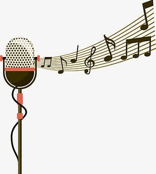 Microphone And Music Symbol PNG