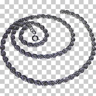 Necklace Rope Chain Sterling Silver Jewellery PNG