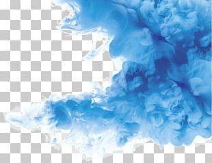 Smoke Color Texture Mapping Blue PNG
