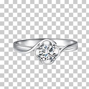 Diamond Ring Gold Platinum Carat PNG