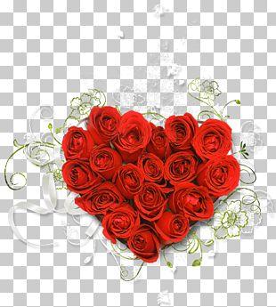 Flower Bouquet Rose Heart PNG