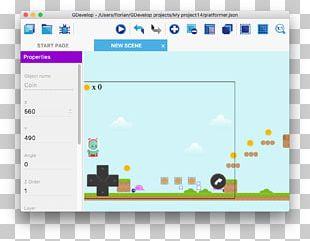 GDevelop Video Game Computer Programming Platform Game PNG