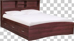 Bed Frame Platform Bed Mattress Headboard PNG