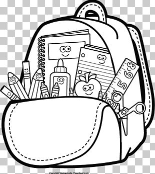 Student School Black And White PNG