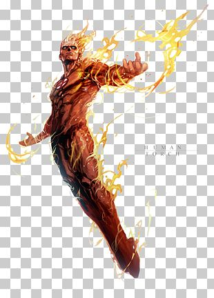 Human Torch Doctor Doom Mister Fantastic Invisible Woman Ghost Rider PNG