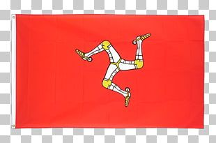 Flag Of The Isle Of Man Peel Castle Douglas Fahne PNG