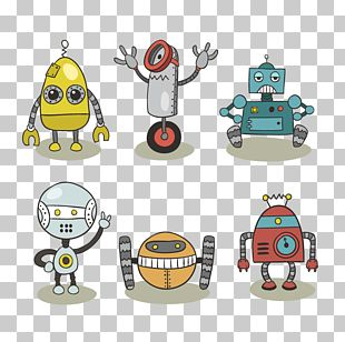 Robot Cartoon Illustration PNG