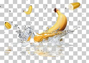 Banana Flavored Milk Water Splash PNG