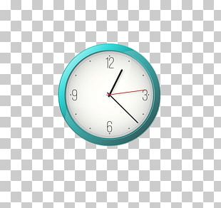 Clock Turquoise Circle PNG