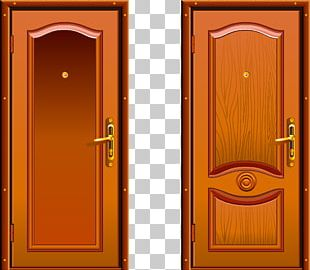 Door Window Wood House Plan PNG