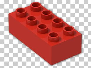 Lego Duplo Red Blue Brick PNG