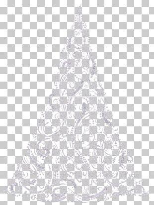 Christmas Tree Drawing Black And White Visual Arts PNG