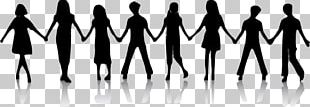 Silhouette Holding Hands Child PNG