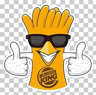 Burger King Sticker French Fries Chicken Telegram PNG