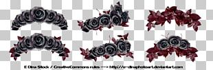 Black Rose Flower Crown PNG