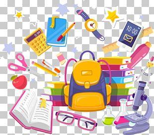 School Supplies Notebook Illustration PNG