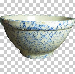 Bowl Blue And White Pottery Ceramic Tableware PNG