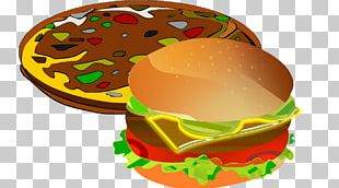 Cheeseburger Pizza Hot Dog Hamburger Fast Food PNG