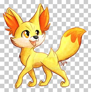 Red Fox Fennekin Pokémon Drawing PNG