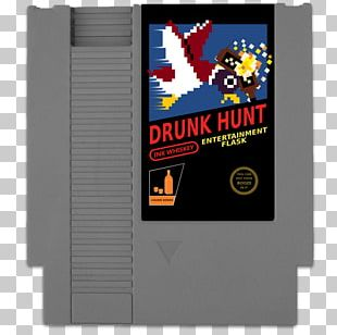 ROM Cartridge Video Game Retrogaming Hip Flask Nintendo Entertainment System PNG