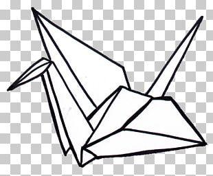 Crane Origami Paper Drawing Orizuru Png Clipart Angle Area Art