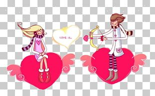 Valentines Day Cupid Couple PNG