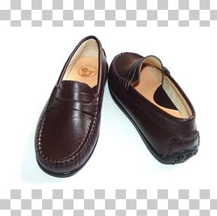 Slip-on Shoe Leather Brown Walking PNG