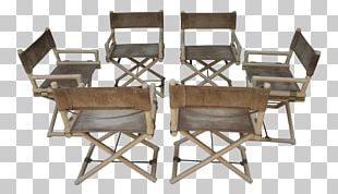 Chairish Table Director's Chair Brass PNG
