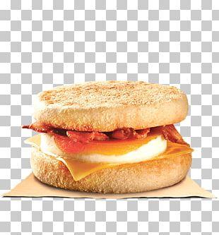 English Muffin Hamburger Fast Food Breakfast Sandwich PNG