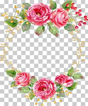 Rose Watercolor Painting Floral Design Flower PNG