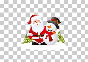 Santa Claus Snowman Christmas Day Illustration Stock Photography PNG