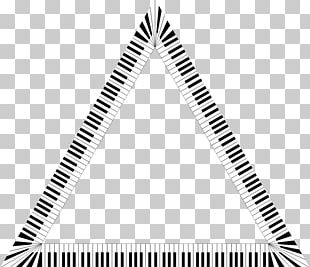 Triangle Musical Note Piano Keyboard PNG