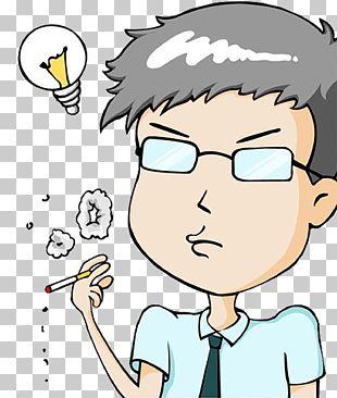 Cartoon Smoking Man PNG