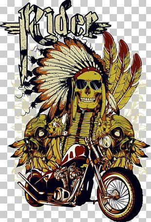 T-shirt Motorcycle Skull PNG