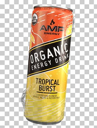 AMP Organic Energy Drink Junk Food Flavor By Bob Holmes PNG