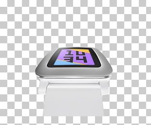 Pebble Time Smartwatch White PNG
