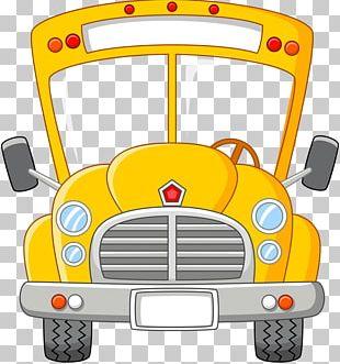 School Bus Cartoon PNG